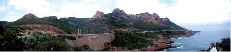 View of the esterel Massif on the French Riveria near the towns of Agay and Atheor - Sept 2002