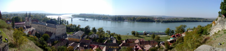 View from the Southern Bank of the Danube at Esztergom near the famous Cathedral!
