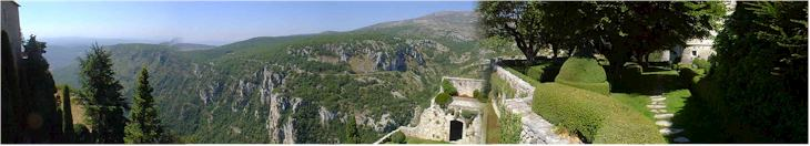 View from the Terraces of the Chateau of Gourdon - Towards the Sea