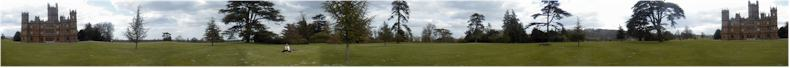 Panorama in the grounds of Highclere Castle near Newbury, Berkshire - Monday 7th May 2001 - Home of the 7th Earl of Carnavon
