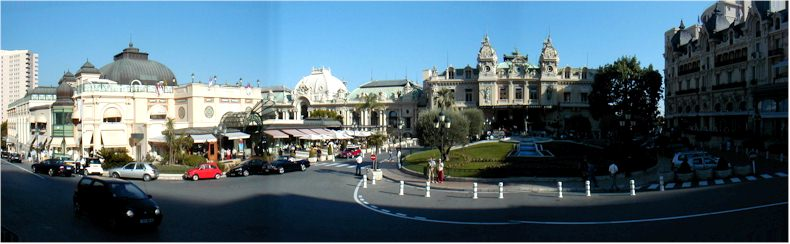 View of the Casino Square in the Monte-Carlo - Monaco - Sept 2002