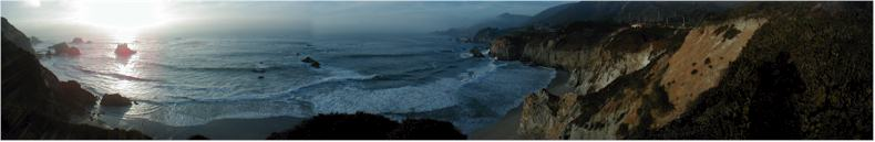 Sunset on Big Sur - Route 1 - California, USA - October 15th 2001