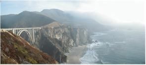 View from Bixby Bridge - Big Sur, California, Pacific Ocean Road - Route 1