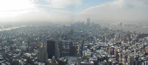 New York Panorama from Empire State Building - Towards Down-Town and the World Trade Centre