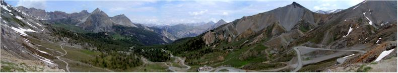 Looking north from the Col D'Izoard in the Queyras National Park