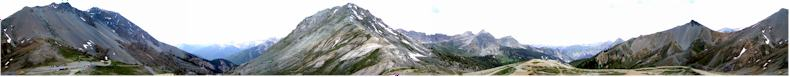 Panoramic view from the orientation table on the summit of the Col D'Izoard in the Queyras Park