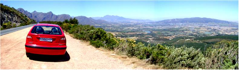 The Dutoitskloof Road (N1) that goes over the mountain between Worcester and Paarl
