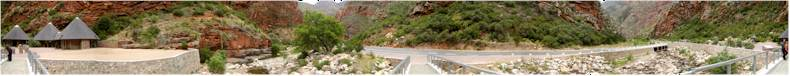 The Meiringspoort Pass between De Rust and Klaarstroom (N12)  - At the new tourist facilities and path to the waterfall in the gorge.