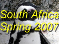 Click here for photos of South Africa from November 2007