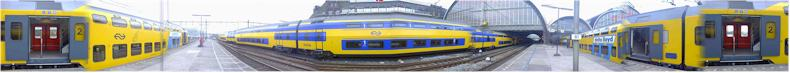 Commuter Train - Amsterdam Central Station, Netherlands