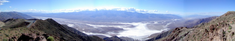 View from Dante's Peak above Death Valley and the Salt Flats that are around 400feet below sea leve!