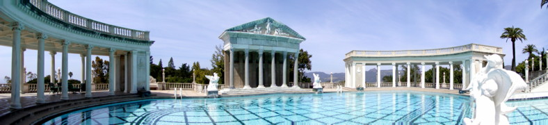The recreated Roman/Greek Temple Swimming Pool at the majestic Hearst Castle - Just off the Coastal Route 1 at San Simeon, Southern California