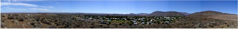 View from the Koppie Trail to the West of Prince Albert Village in the Karoo